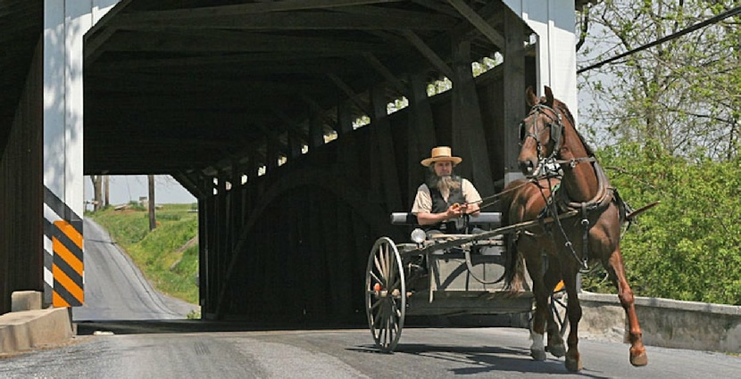 amish country covered bridge