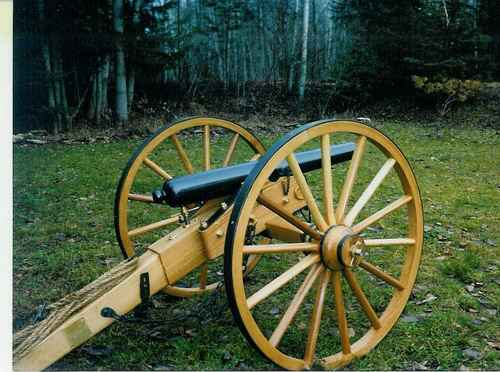 Cannon made with R & P Tradins cannon wheels
