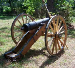 Chuck Wallace's cannon with ou cannon wheels