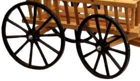wooden pumpkin wagon for the yard and garden