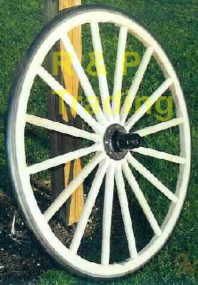 authentic amish buggy wheel