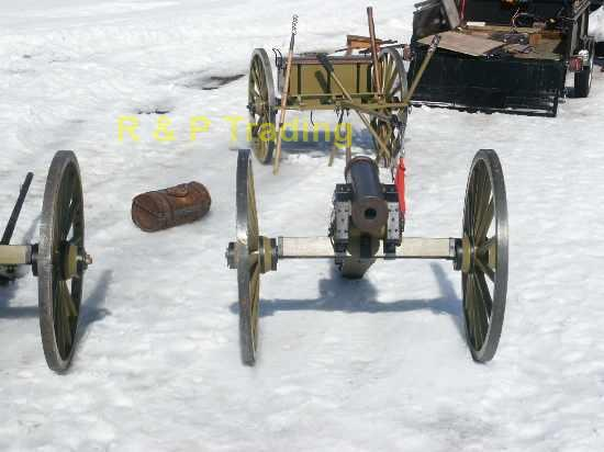 Jules Martinos cannon using R & P Tradings cannon wheels in the snow