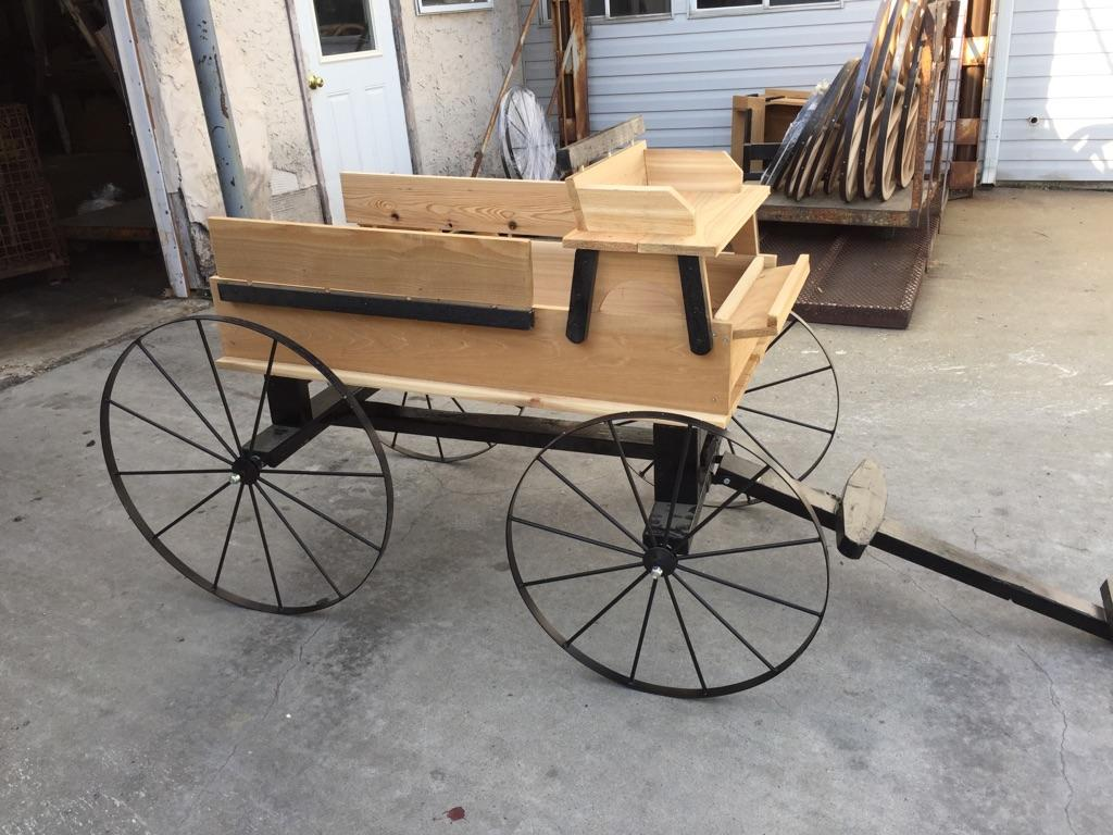 Infinished hitch wagon in shop