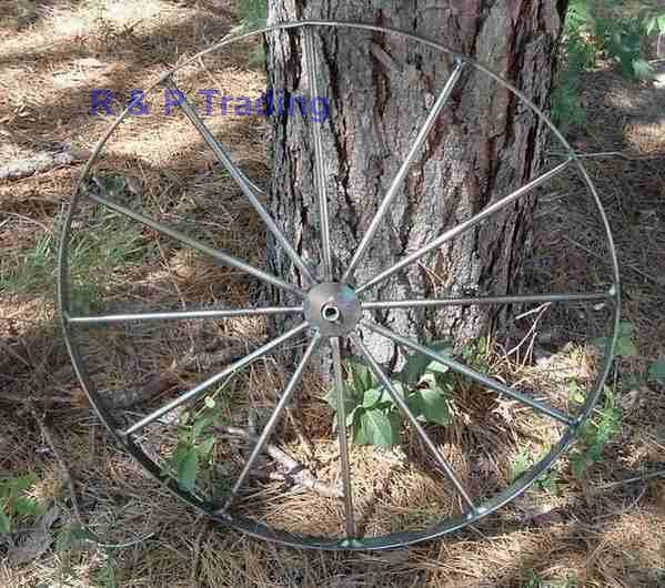 large steel wagon wheels - Amish made