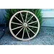Wooden hub wagon wheels