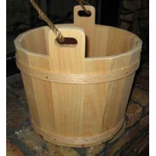 BASIC WOODEN BUCKETS (pine) - with Wooden Band