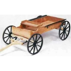 Wooden buckboard wagon